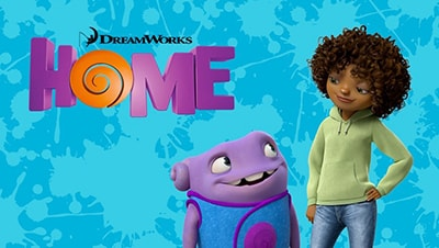 Movie poster for the animated film called Home.