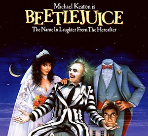 Beetlejuice movie poster.